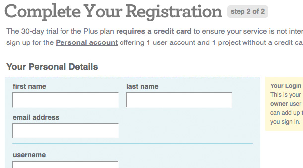 Form Registration Steps